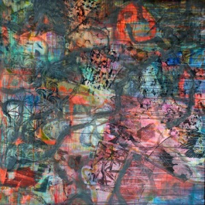 48 x 48 inches, mixed media on canvas, Marie Kazalia, Jan 2010