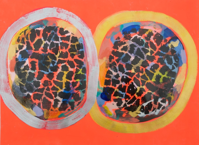 mixed media on paper, Artist: Marie Kazalia