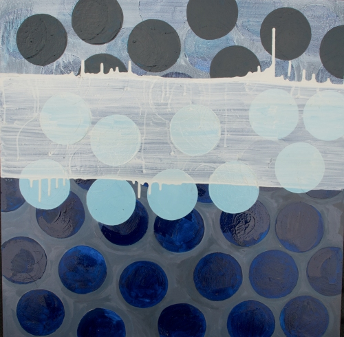 Blue Rice Cracker, oil painting on panel, 24 x 24 inches, Marie Kazalia, 2012