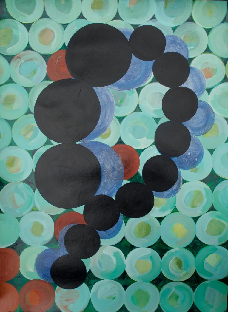 No reversed, painting on paper, Marie Kazalia, 2012