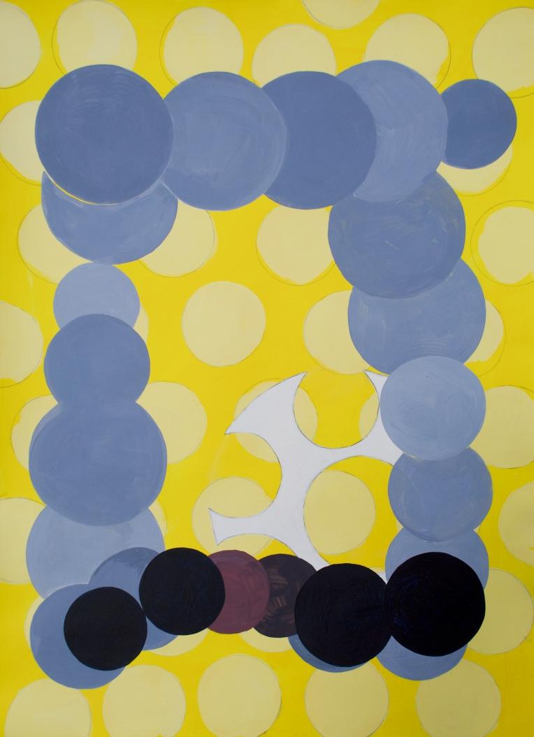Zi, Mixed meida painting on Lennox fine art paper, 22 x 30 inches, Marie Kazalia, Feb 9, 2013