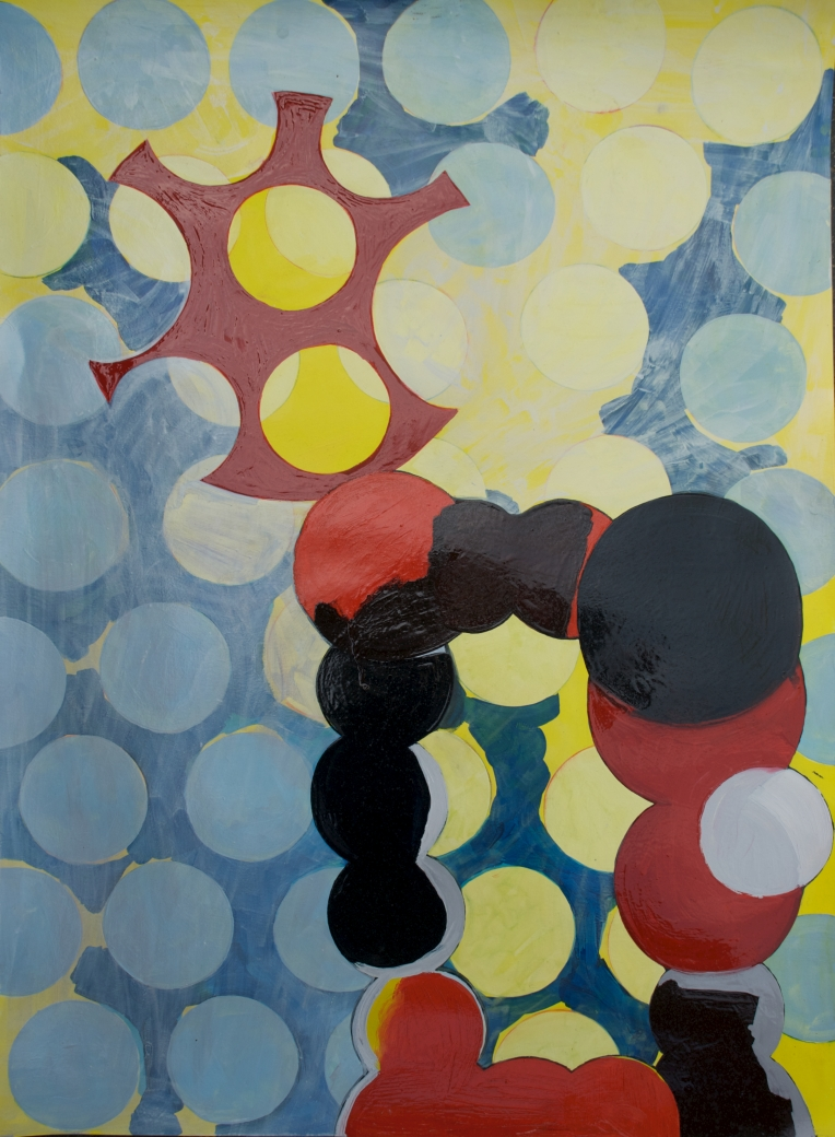 Ku, mixed media painting on Lennox fine art paper, Marie Kazalia, May 2013