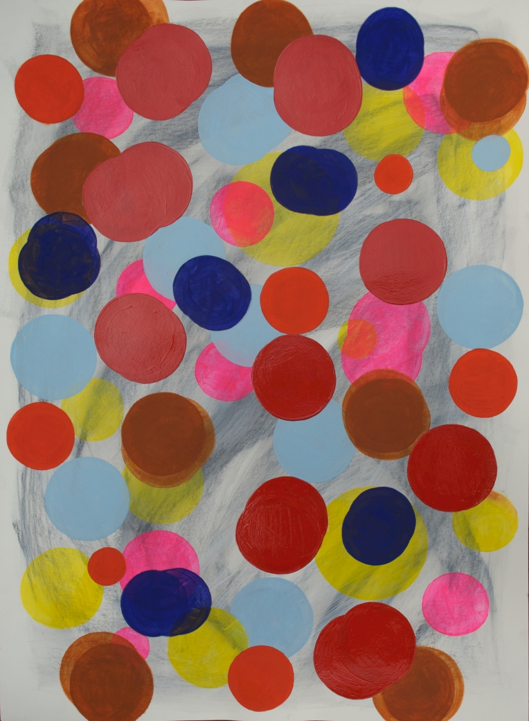 Spots 5, Marie Kazalia, May 2013, mixed media on Lennox fine art paper