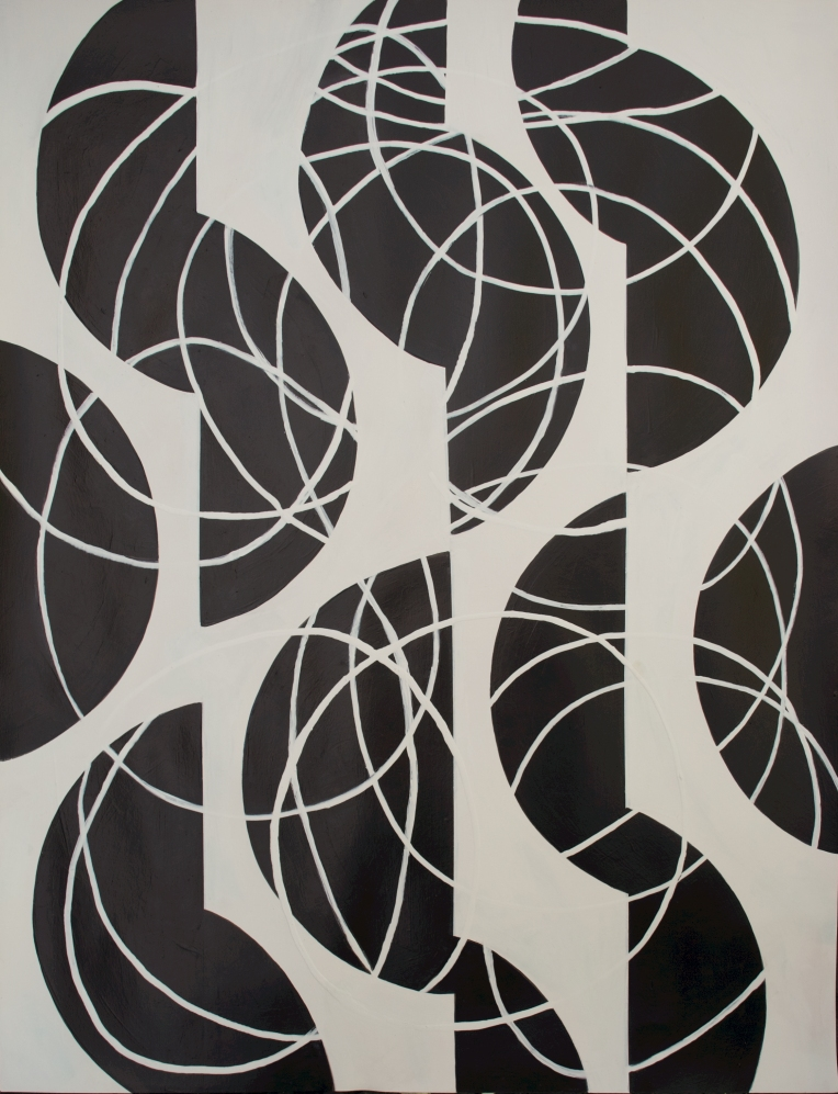 Black and white series 1, Flashe on Coventry Rag fine art paper, 23 x 30, Marie Kazalia, June 2013