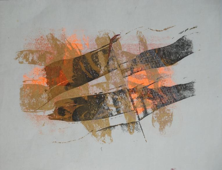 Fragmentary Patina 2, ink print on rice paper, 2009, Marie Kazalia