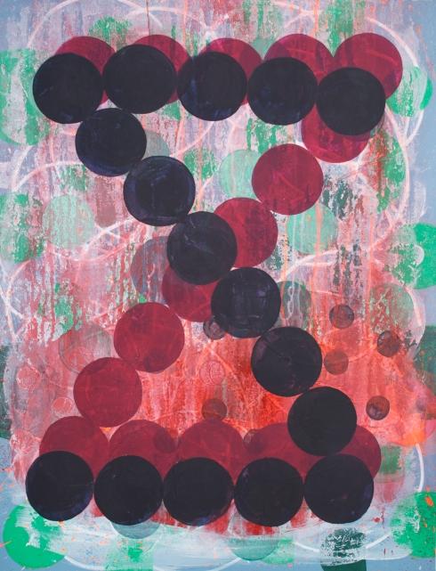 ploce, mixed media painting on paper, Marie Kazalia,July 2013