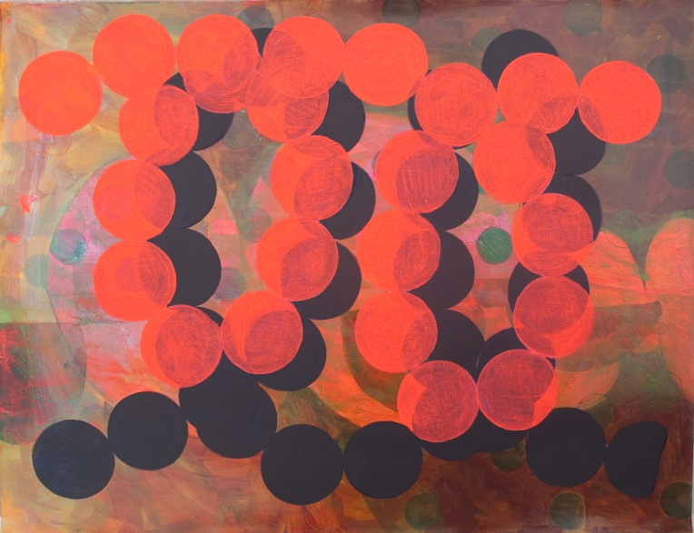 Marie Kazalia, AnFRAK, paitning on Coventry Rag Fine Art Paper, 23 x 30 inches, 2014