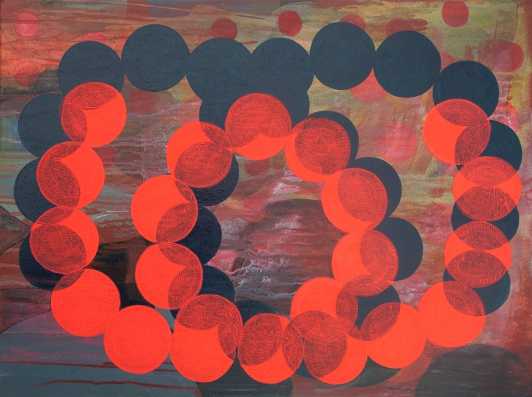 Marie Kazalia, Contrail, Painting on Coventry Rag Fine Art Paper, 23 x 30 inches