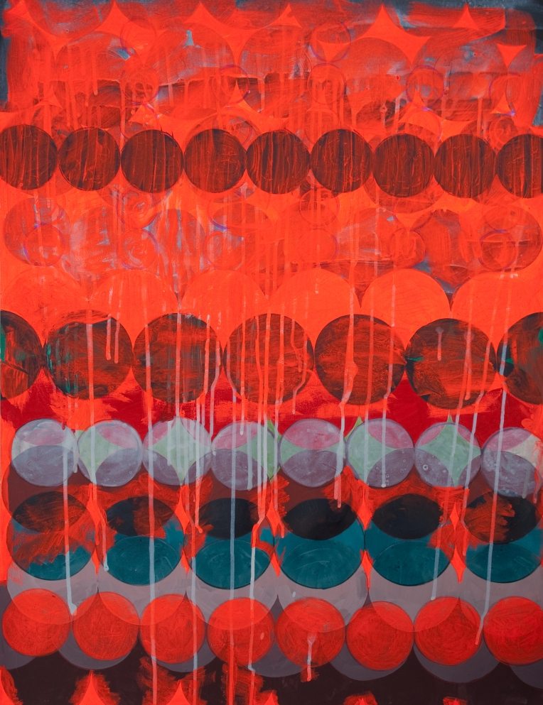 Marie Kazalia, fermata, painting on Coventry Rag Fine Art Paper, 23 x 30 inches, 2014