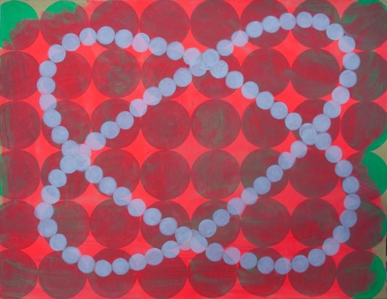 Moon Orrery, painting on Coventry rag fine art paper, March 2014, Marie Kazalia