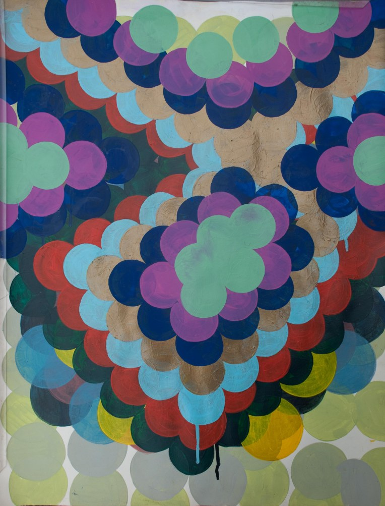 Idiolect 3, painting on Coventry Rag fine art paper, Marie Kazalia June 2014