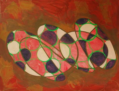 Rufe 2 (horizontal), paintings on Coventry Rag fine art paper, 23 x 30 inches, Dec 2014, Marie Kazalia