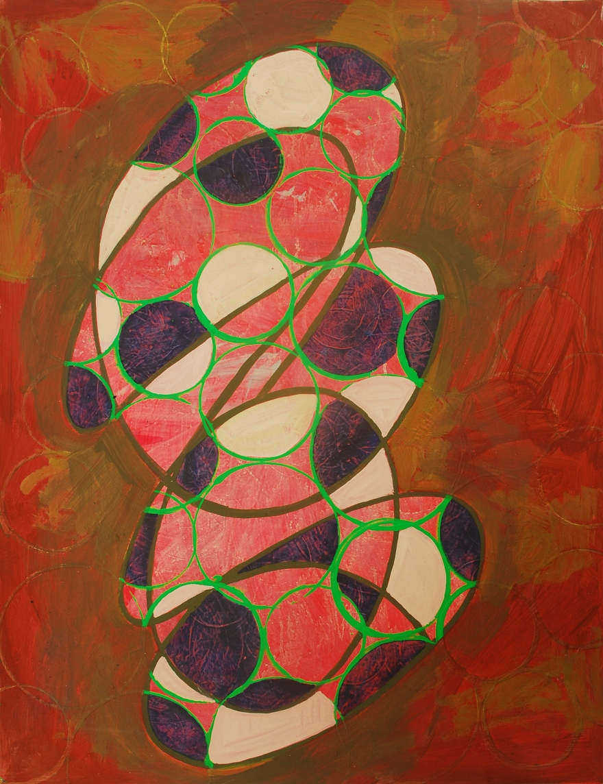 Rufe 1(vertical), paintings on Coventry Rag fine art paper, 23 x 30 inches, Dec 2014, Marie Kazalia