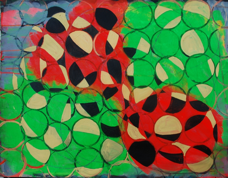 Rufe 3 (horizontal), paintings on Coventry Rag fine art paper, 23 x 30 inches, Dec 2014, Marie Kazalia