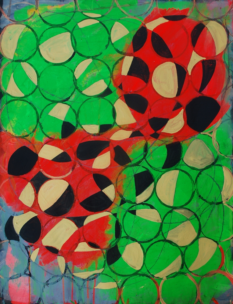 Rufe 3, paintings on Coventry Rag fine art paper, 23 x 30 inches, Dec 2014, Marie Kazalia