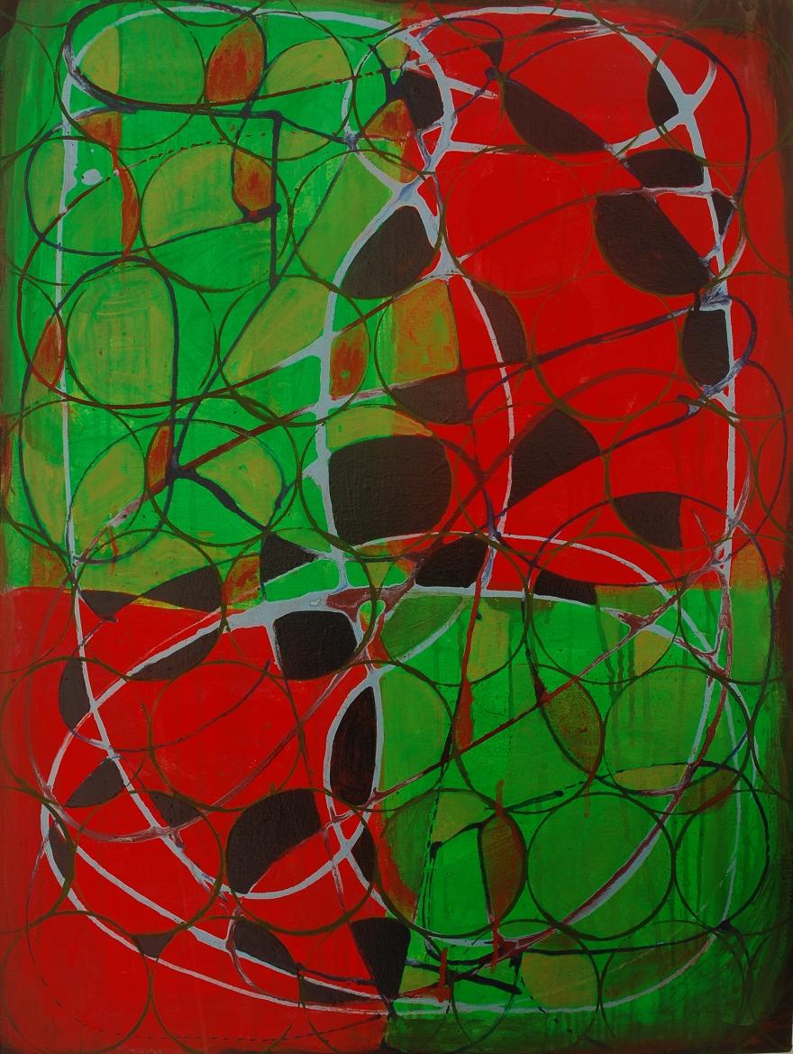 Prenomen, Marie Kazalia, painting on canvas 32 x 24 inches, Jan 2015