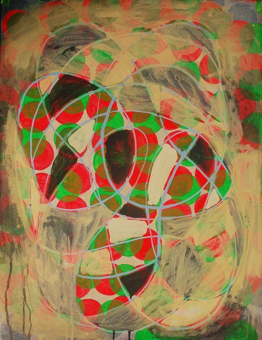 Circumvolv, painting on Coventry Rag fine art paper, 23 x 30 inches, March 2015, Marie Kazalia