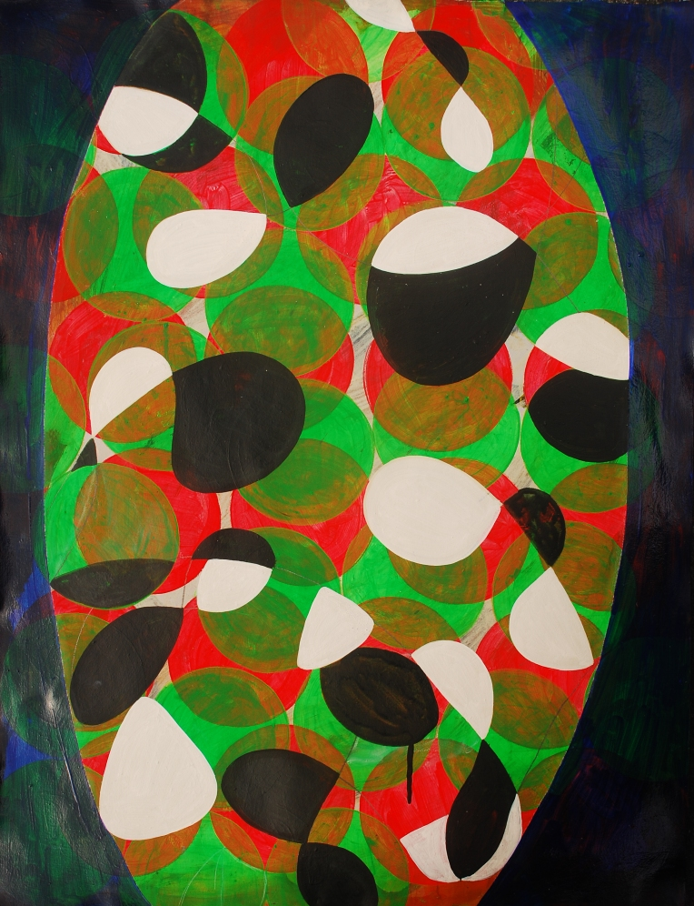 Argot, painting on coventry rag, 23 x 30 inches, March 2015, Marie Kazalia
